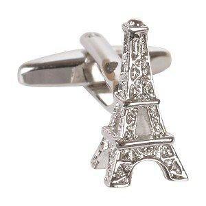 Boutons de manchette en argent Tour Eiffel Paris