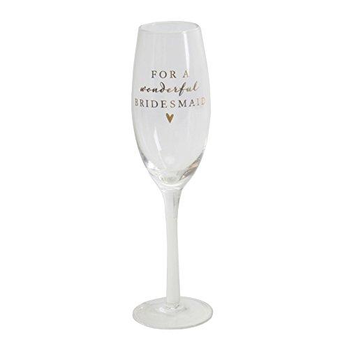 Flûte à champagne en verre pour une merveilleuse Demoiselle d'honneur Boîte cadeau Amore par Juliana