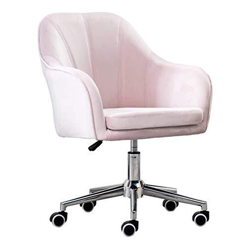 W-xiao stool Silla de oficina reclinable con rotación de 360 grados para escritorio y sillas modernas y ergonómicas para oficina, salón, dormitorio, vestidor (color opcional)