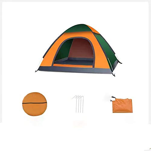Waterproof Instant Pop Up Tent 2 Person Camping Tent, Instant Set Up, Camping Gear for Hiking, Backpacking, and Traveling (Yellow and Green)