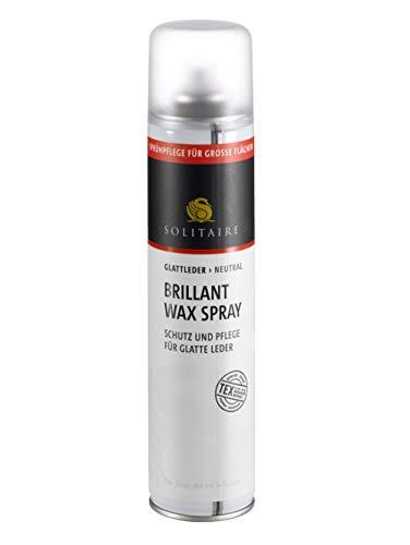 Solitaire Brillant Wax Spray - Schutz, Pflege, Imprägnierung und Farbauffrischung für glatte Leder 200 ml