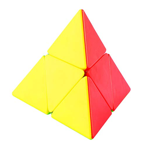 Pyraminx 2x2 Stickerless Special Shaped Puzzle Cube, Pyramid Speed Cube Stickerless, Triangle Puzzle for 6 18 Year Old Boys