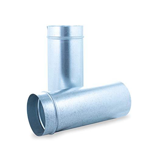 Tubo liso telescopico 1m acero galvanizado para sistemas de ventilación y extracción, chimeneas y estufas de leña y pellet, autoconectable (250 mm)