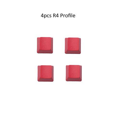 Man-hj Teclas del Teclado PBT de Color Rojo no Tiene carácter Caps Los Nombres de Teclas ESC Flecha WASD Barra espaciadora for el Interruptor MX Teclado mecánico (Color : Keycap 4)