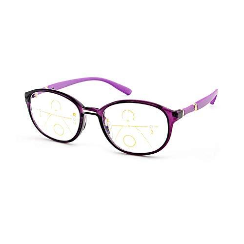 LQUIDE Progressive Multi-Focus-Lesebrille, Hochauflösende Dual-Use-Brille, Smart Zoom Vision Clear, Tr90-Rahmenlicht Und Komfortables Unisex
