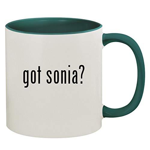 got sonia? - 11oz Ceramic Colored Inside & Handle Coffee Mug, Green