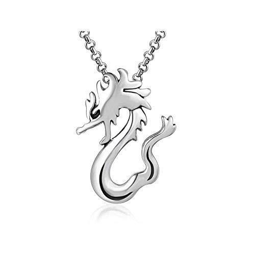 LKYH Fashion Simple Classic Necklace Dragon Pendant Men's Necklace Titanium Steel Trend Men's Ornament Trend