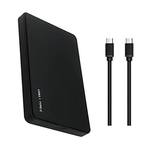 FeiyanfyQ Disco Duro Externo Portátil De 4TB Almacenamiento USB3.0 HDD Compatible con PC, Escritorio Negro C-C