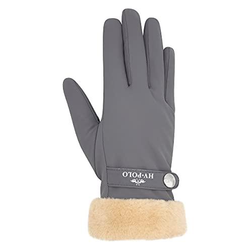 HV Polo Handschuhe HVPGarnet mit Kunstfellrand (XL, cool grey)