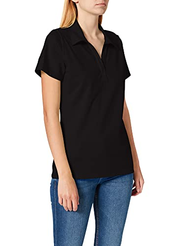 Trigema Damen 521612 Poloshirt, Schwarz (Schwarz), XL