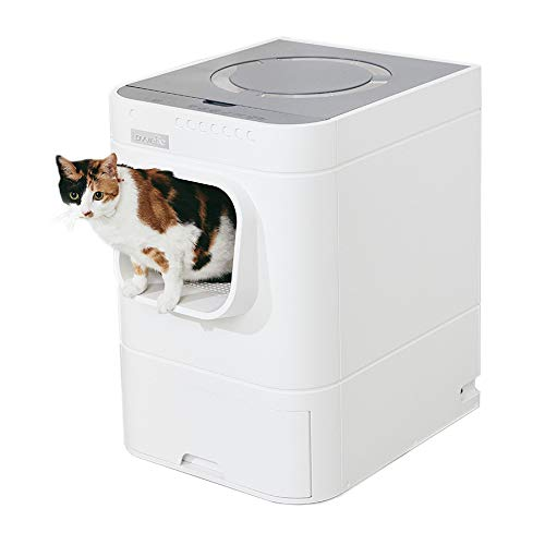LavvieBot S Robotic Litter Box - Self-Cleaning Unit - Cat Health Detection - Automatic Refill, Sophisticated, Natural Gel Deodorizer