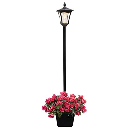 Outdoor Solar Lamp Post Light, Solar Powered Street Lights with Planter for Landscape Pathway Street Patio Yard (68Inch)