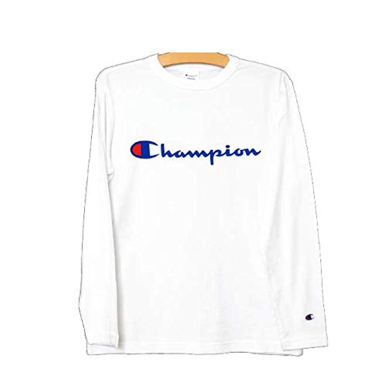 カカドゥ人里離れた体操選手[チャンピオン] C3-J426L ベーシック プリントロゴロンT メンズ 長袖Tシャツ BASIC 大きいサイズ