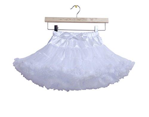 Honeystore Mädchen's Schminktisch Märchen Prinzessin Party Tutu Unterkleid Rock Weiß