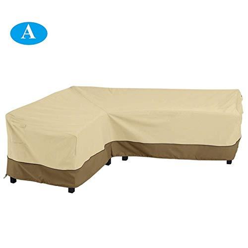 HHTC Cubiertas de los muebles del patio, del sofá de la cubierta, Campanas y lonas, juegos de muebles, de muebles de la cubierta, cubierta de la lluvia, toldos y Tono, 264 * 210CM al aire libre Mueble