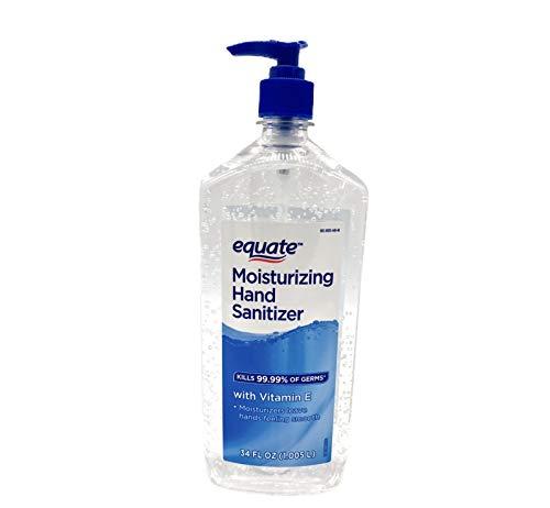 Equate Moisturizing Hand Sanitizer KILLS 99.99% OF GERMS (34 oz Pack of 1, Original)