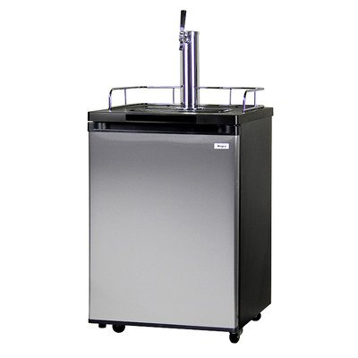 Kegco Kegerator Full Size Keg Refrigerator - Single Faucet - D System, Stainless Steel
