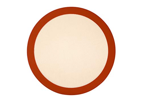 Kitchvana Round 12 Inch Silicone Non-Stick Baking Mat for Pizza by Kitchvana