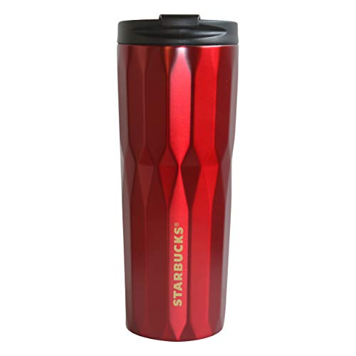 Starbucks Tumbler Alaska Red faceted facettiert Edelstahl 473 ml/16 fl oz