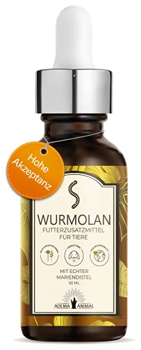 NEU: Adema Animal® - Wurmolan Liquid für Hunde, Katzen und Nager – Wurmkur für Haustiere, vor während und nach Befall – natürliches Mittel – Entwurmungsmittel für Tiere - 50 ml