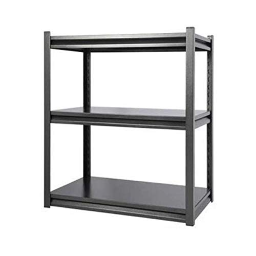 HUYYA Metal Etagere Rangement Cuisine Micro Onde Verticales, Utilitaire rayonnage Stockage Tablette réglables rayonnage Stockage Tablette,Silver Black_32x18.28x32inch