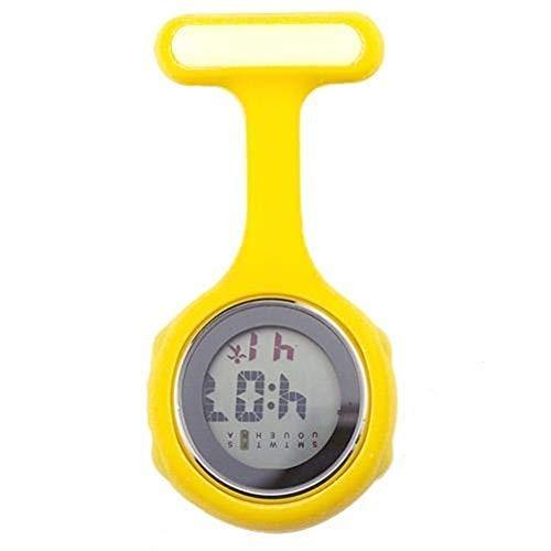 FGMGFTG Reloj de Broche Duradero Digital Display Dial Clip-On Fob Broche de la Enfermera del Pin Cuelgue Reloj de Bolsillo eléctrico de la Moda de Las Mujeres Enfermero Doctor Paramédico Médico