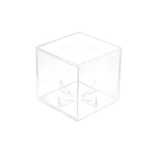 Verdelife - Vitrina de béisbol, vitrina, tarjetas de béisbol, pelota de tenis de golf, caja transparente, acrílico de 80 mm, caja de almacenamiento a prueba de polvo