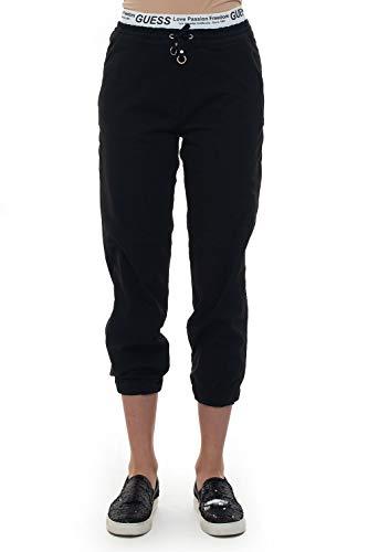 Guess - Pantalón de chándal negro de poliéster para mujer