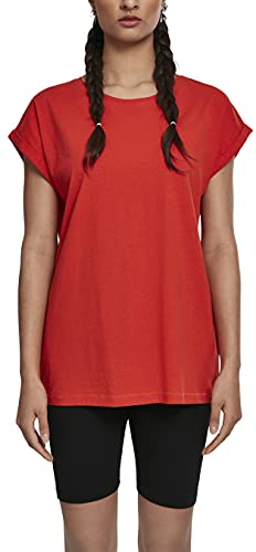 Oferta de Urban Classics Ladies Extended Shoulders tee Camiseta, Naranja (Bloodorange), 4XL para Mujer