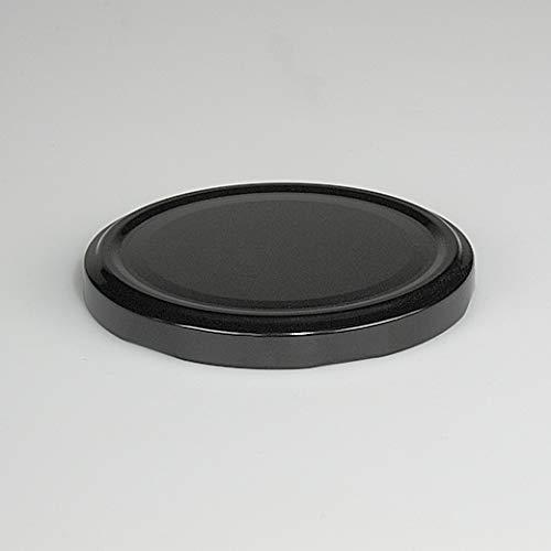 20 St. Ersatzdeckel Twist-Off-Deckel 82 mm schwarz für Gläser und Glasflaschen, Milchflaschen und Einmachgläser, Deckel für Marmeladen, Honig, Feinkost, Gewürzgläser mit Gebrauchsanweisung