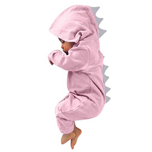 VECDY Conjuntos Bebe Niño Invierno, Tops Moda 2019 Pijama Bebé Niños Dinosaurio Sudadera con Capucha Mameluco Cremallera Ropa Mono(0-18m) Chaqueta Primavera Otoño Invierno Linda Suave(Rosa,18M)