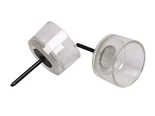 Decpero Teelichthalter aus Glas mit Dorn/Ø 5cm / 12 Stück