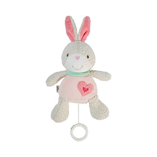 solini Spieluhr Hase – Baby Spielzeug – mit Bändern leicht zu befestigen an Babyschale & Kinderwagen