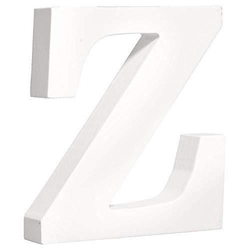 """Rayher 62677000 MDF- Buchstabe """"Z"""", weiß, 11 cm, Stärke 2 cm"""