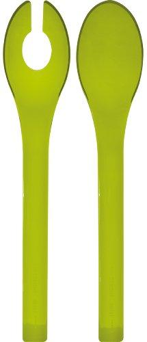 Zak Designs 0204-2009 Couverts à Salade Translucide Opposite 31 cm San Vert