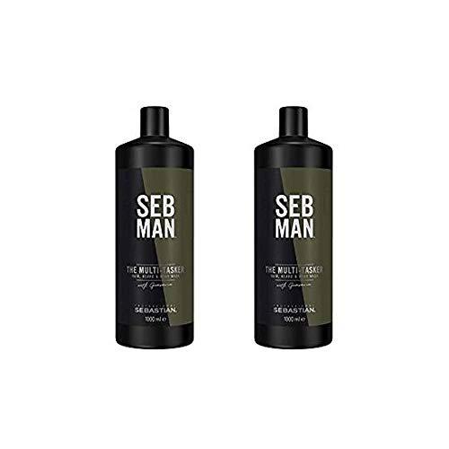 Preisvergleich Produktbild 2 er Pack SEB MAN The Multi-Tasker Hair,  Beard & Body Wash 1000 ml