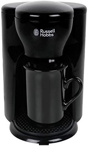 RUSSELL HOBBS RCM1 330-Watt One Cup Coffee Maker with Ceramic Cup 2 Years Manufacture Warranty