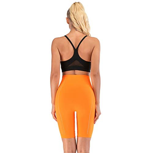 New Above The Knee Leggings for Women - Bright Solid Color Womens Capri Tights Leggings Fitness Work...