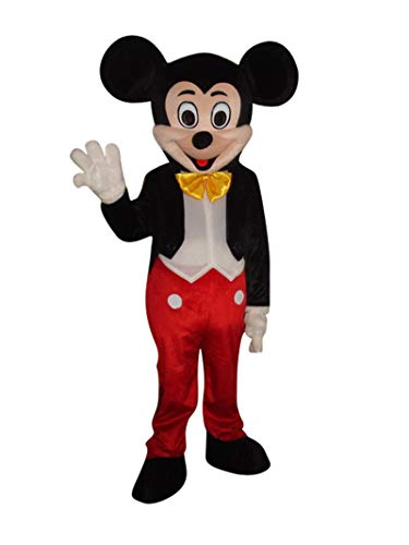 Mickey Mouse and Minnie Mouse Adult Mascot Costume Fancy Dress Outfit (Mickey Mouse)