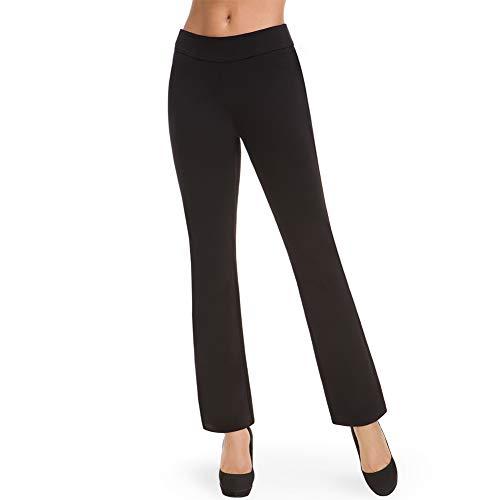 Bamans Schwarze Hose Damen High Waist Casual Anzughose Schwarz Straight Leg Stretch Jogginghosen Workout(Black,Medium