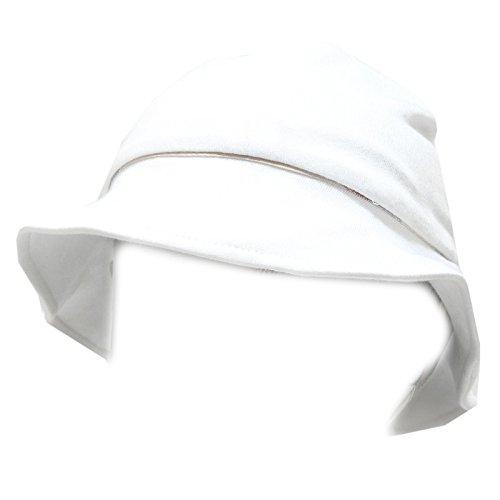 BURBERRY 6077G cappello pescatore bimba bianco BABY cotone accessori hat kids [42 CM]