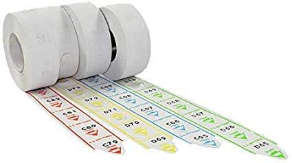 Palucart® Eliminacode rollos de billetes turno – 10.000 Tickets de velcro para sistemas de eliminación de colas de color azul o verde