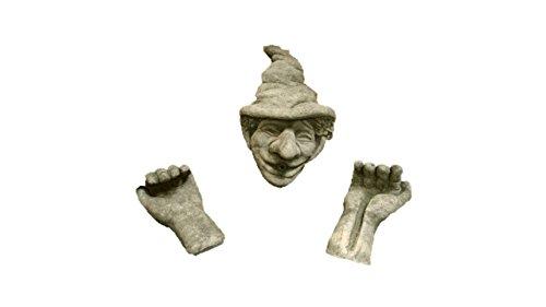 Steinfigur Wasserspeier, aus Steinguss, z.B. zum Einhängen in EIN Fass