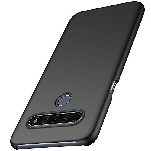 anccer LG K61 Hülle, [Serie Matte] Elastische Schockabsorption & Ultra Thin Design für LG K61 (Schwarzes)
