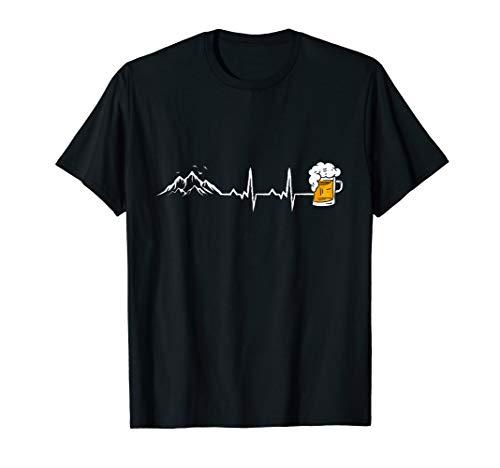 Herzschlag Berge und Bier T-Shirt