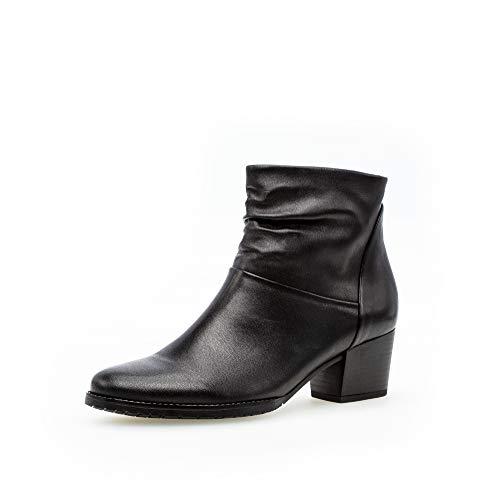 Gabor Damen Stiefeletten, Frauen Ankle Boots,Comfort-Mehrweite,Reißverschluss, knöchelhoch reißverschluss Lady Women,schwarz (Micro),37.5 EU / 4.5 UK