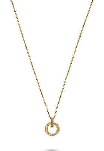 JETTE Silver Damen-Kette 925er Silber 38 Zirkonia One Size Gelbgold 32010633