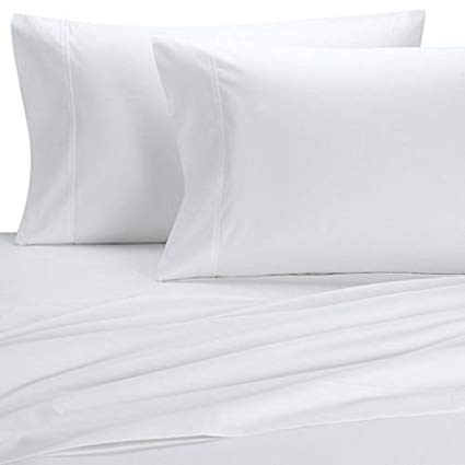 Royal Tradition Silky and Soft Bamboo Pillowcases, 100% Viscose from Bamboo, Hypo Allergenic, White, Pair of Standard Pillowcases