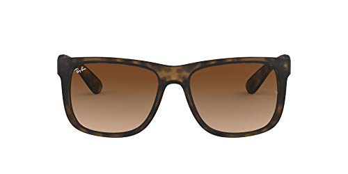 Ray-Ban Junior Herren Justin Sonnenbrille, Braun (Rubber Light Havana), 55 mm