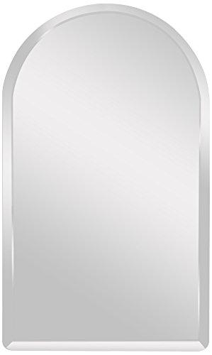"Spancraft Glass Arch Beveled Mirror, 18"" x 36"""